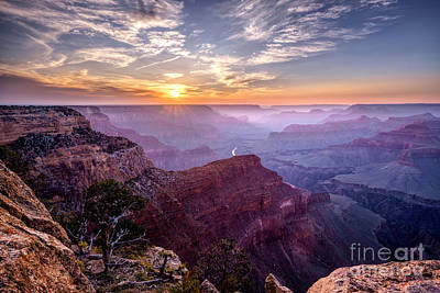 Sunset At Grand Canyon Art Print