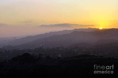 Photograph - Sunset At Griffeth Observatory by Clayton Bruster