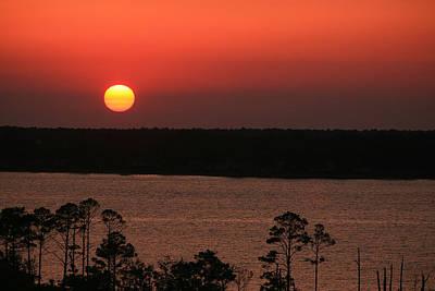 Sunset At Gulfshores Art Print by James Jones