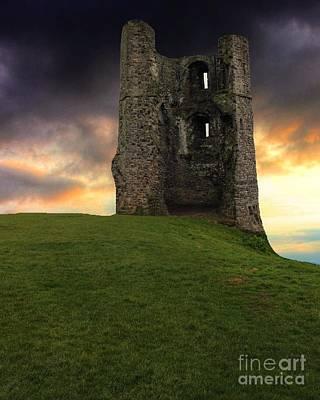 Sunset At Hadleigh Castle Art Print
