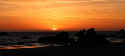 Photograph - Sunset At Harris Beach - 5 by Christy Pooschke