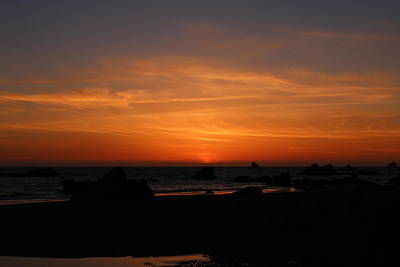 Photograph - Sunset At Harris Beach - 9 by Christy Pooschke