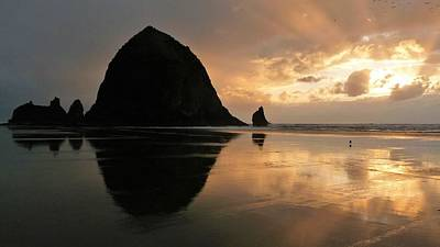Photograph - Sunset At Haystack Rock by Tranquil Light Photography
