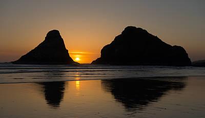 Photograph - Sunset At Heceta Head by Loree Johnson
