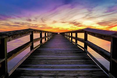 Photograph - Sunset at Hilton Pier by Steve Stephenson