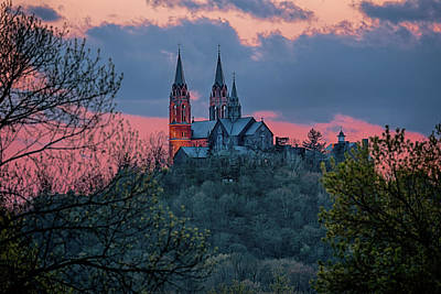 Art Print featuring the photograph Sunset At Holy Hill by Susan Rissi Tregoning