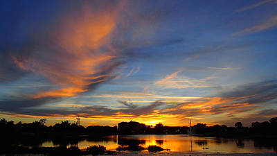 Photograph - Sunset At Home by Becky Erickson