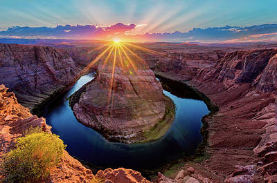 Photograph - Sunset At Horseshoe Bend by Dave Koch