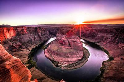 Photograph - Sunset At Horseshoe Bend by Lev Kaytsner