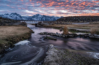 Photograph - Sunset At Hot Creek by Cat Connor