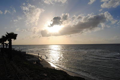 Photograph - Sunset At Jaffa Beach 8 by Isam Awad