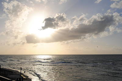 Photograph - Sunset At Jaffa Beach 17 by Isam Awad