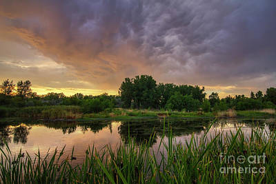 Photograph - Sunset At Jordan River Parkway by Spencer Baugh