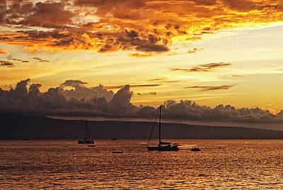 Sailboat Photograph - Fire In The Sky by Marcia Colelli