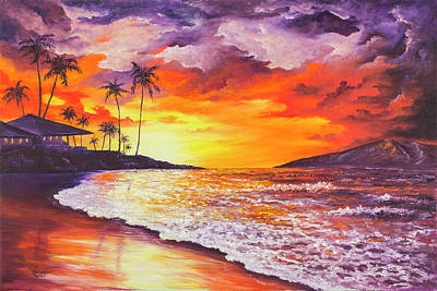 Painting - Sunset At Kapalua Bay by Darice Machel McGuire