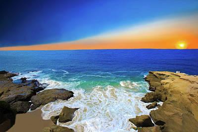 Photograph - Sunset At Laguna Beach by Kay Kochenderfer
