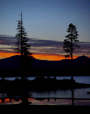 Photograph - Sunset At Lake Almanor by Peter Piatt
