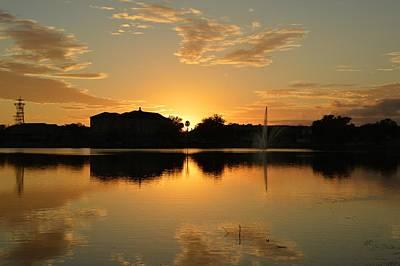 Photograph - Sunset At Lake City Florida by rd Erickson