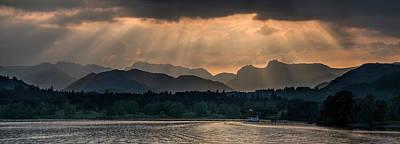 Photograph - Sunset At Lake District by Jaroslaw Blaminsky