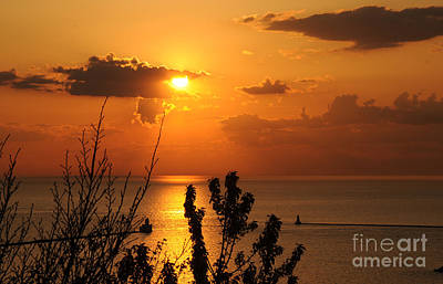 Sunset At Lake Huron Art Print by Joe  Ng
