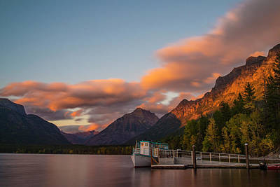 Photograph - Sunset At Lake Mcdonald by Alex Lapidus