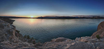 Sunset At Lake Powell Print by Andreas Freund