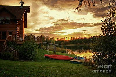 Photograph - Sunset At Lakeside Lodge by Lynn Bolt