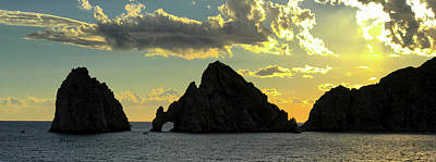 Photograph - Sunset At Land End The Arch At Cabo San Lucas by Barbara Snyder