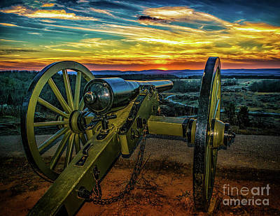 Photograph - Sunset At Little Round Top by Nick Zelinsky