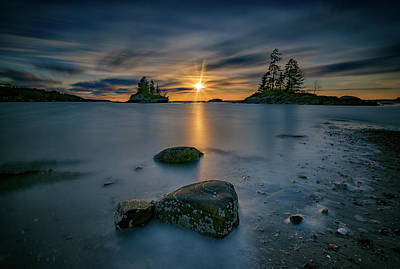 Photograph - Sunset At Lookout Point by Rick Berk