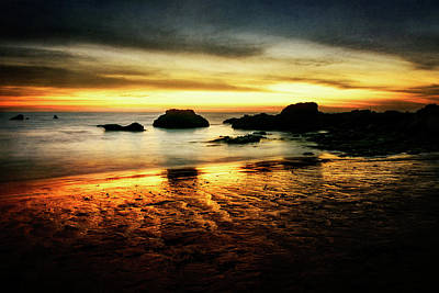 Photograph - Sunset At Low-tide -2 by Gizella Nyquist