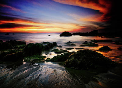 Photograph - Sunset At Low-tide by Gizella Nyquist