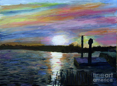 Painting - Sunset At Loxahatchee by Donna Walsh