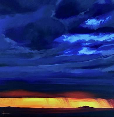 Painting - Sunset At Maricopa by Hunter Jay