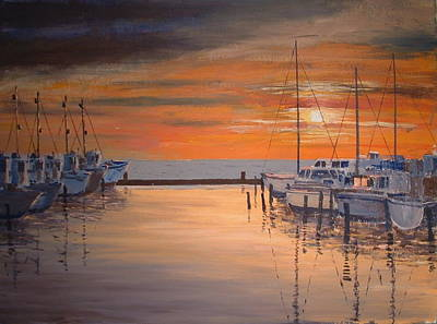 Painting - Sunset At Marina by Francis Chester