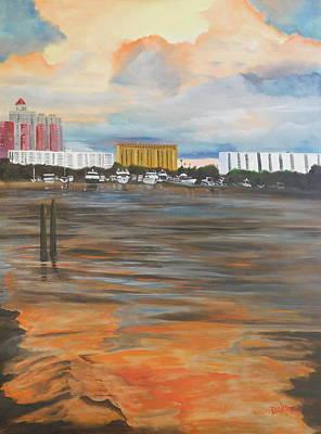 Painting - Sunset At Marina Jack's Sarasota by Lloyd Dobson