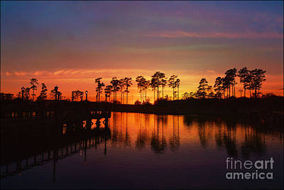 Photograph - Sunset At Market Commons II by Kathy Baccari