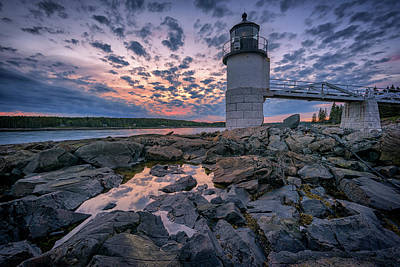 Saint George Photograph - Sunset At Marshall Point by Rick Berk
