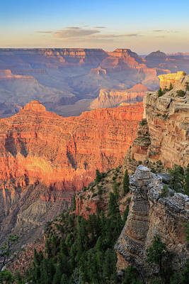 Sunset At Mather Point Art Print