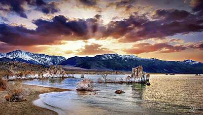 Photograph - Sunset At Mono Lake by Endre Balogh