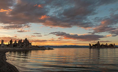 Sunset At Mono Lake Art Print by Loree Johnson