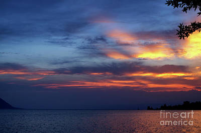 Photograph - sunset at Montreux by Michelle Meenawong