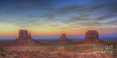 Photograph - Sunset At Monument Valley by ELDavis Photography