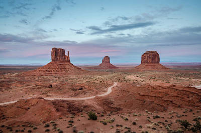 Photograph - Sunset At Monument Valley No.1 by Margaret Pitcher