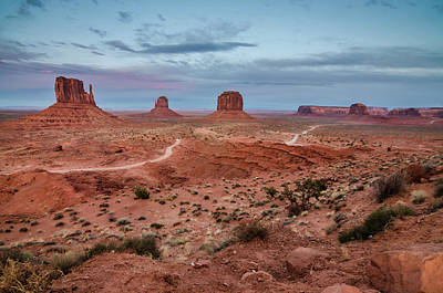 Photograph - Sunset At Monument Valley No.2 by Margaret Pitcher