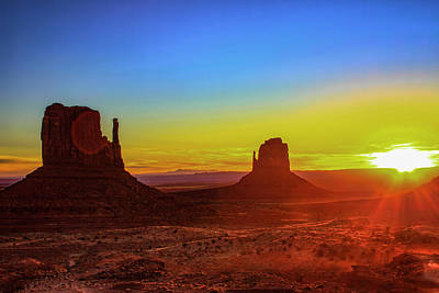 Photograph - Sunset At Monument Valley by Trish VanHousen