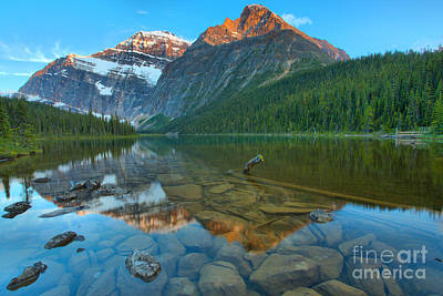 Photograph - Sunset At Mt. Edith Cavell by Adam Jewell