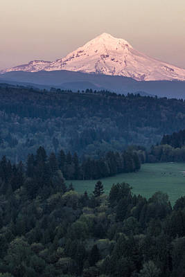 Photograph - Sunset At Mt Hood Oregon by John McGraw