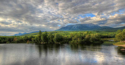 Sunset At Mt. Katahdin Art Print by Lori Deiter