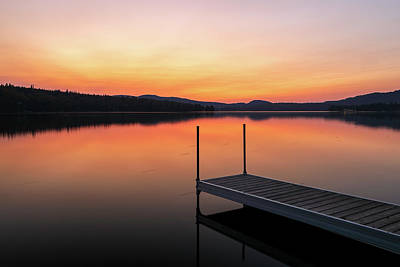 Photograph - Sunset At New Hampshire Back Lake by Juergen Roth